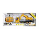 Carro attrezzi camion da costruzione con escavator