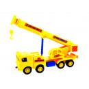 Großhandel Spielwaren: Selbstbauwagen mit Kran 42x16x10 cm