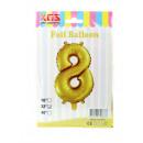 Palloncino foil da 8,32 pollici numero oro -8-