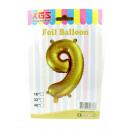 9. Palloncino foil numero oro 16 pollici -9-