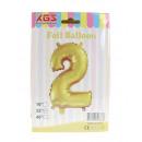 2. Palloncino foil da 32 pollici numero oro -2-