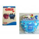 Großhandel Kinder- und Babyausstattung: Ballon-Kinderwagen  (60x48 cm) blau, rosa