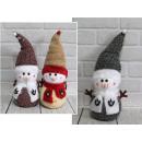 Un festivo pupazzo di neve di Natale in lana s