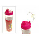 wholesale Lunchboxes & Water Bottles: Clear water bottle in colored cap 24x7 cm