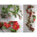 Edera decorativa con fiori 1,7 m - 1 pezzo