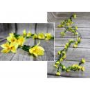 Borostyán virágokkal 1,8 m (35 virág) sárga