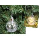 Pallina di Natale LED incolore 8 cm - 1 p