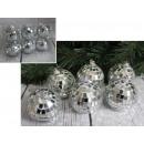 L palle di Natale 6 cm pezzi specchio - set di 6