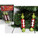 wholesale Food & Beverage: Christmas balls, red candy 12 cm - set of 2 pieces