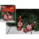 wholesale Food & Beverage: Christmas balls candy red 9 cm - set of 2 pieces