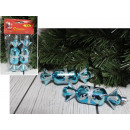 wholesale Food & Beverage: Christmas balls, blue candy 12 cm - set of 2 piece