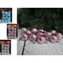 Palle di Natale ricci (4 colori) 3 cm - set di 12