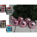 wholesale Home & Living: Curly Christmas balls (4 colors) 7 cm - set of 6 p