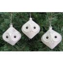 groothandel Home & Living: Plastic kerstballen, tol, wit en zilver