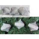 wholesale Haberdashery & Sewing: Christmas balls polka dots sequins 7.5x8.5 cm komp
