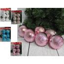 wholesale Home & Living: Checked Christmas balls (4 colors) 6 cm - set of 6
