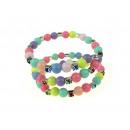grossiste Bijoux & Montres: Bracelet avec des  perles colorées - 1 pièce