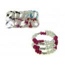 grossiste Bijoux & Montres: Bracelet avec des  perles avec zircons - 1 pièce