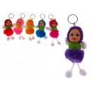 grossiste Porte-cles: poupée pendentif  porte-clefs, poupée avec ressort