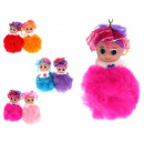 Pompon doll knit with frill 8.5x5 cm - 1 item