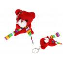 Keychain mascot teddy bear red with a scarf 5.5x4