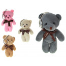 Portachiavi orso mascotte con fiocco 11 cm -1 pezz