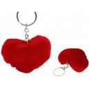 Großhandel Schlüsselanhänger: Schlüsselanhänger Maskottchen Herz 8x7 cm - 1 Stüc