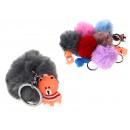 Portachiavi Pompon con orsacchiotto colore misto -