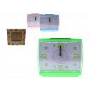 nagyker Órák és ébresztőórák: Téglalap alakú ébresztőóra zöld számok 14,5x13x5 c