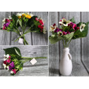 wholesale Home & Living: Bouquet of pansies 15 flowers (height 31 cm, flowe