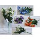 wholesale Decoration: Bouquet, bunch of pansies 33 cm 6 stems