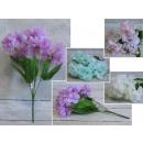 Csokor, egy csomó pasztell virág 35 cm 5 szára
