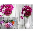 groothandel Woondecoratie: Fijn boeket 7 stelen 21 bloemen 33x6 cm mixkleur