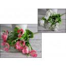 Bouquet de petites perles blanches 33 cm 5 tiges