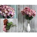 Csokor pasztell hortenzia 5 virág (magassága 49 cm