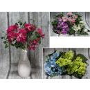 wholesale Decoration: Bouquet of hydrangeas with ivy 30 cm 7 flowers