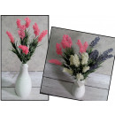 grossiste Décoration: Bouquet de lavande  (alt 32 cm, 7 fleurs.) - 3 coul