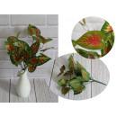 Un mazzo di foglie verde-rosso 7 steli, 35 cm di a