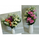 bouquet assorti , chrysanthème-calla posy 65 cm