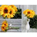 Bouquet, mazzo di girasoli 5 fiori (altezza 36 cm,