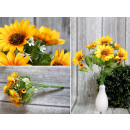 Bouquet, mazzo di girasoli 7 fiori (altezza 42 cm,