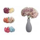 Bouquet un mazzo di peonia 24 cm, 4 fiori, colore