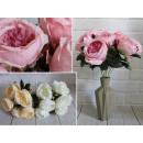 Bouquet di peonia con 7 fiori, 40x10 cm, mix