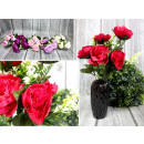 Bouquet di peonie 12 fiori (altezza 43 cm, fiore 8