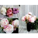 wholesale Decoration: Bouquet of pastel peonies 6 flowers (height 33 cm,