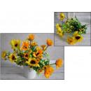 mayorista Plantas y macetas: Bouquet fino  girasol tallos 35 cm 6