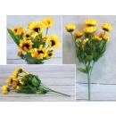 Bouquet of sunflowers 36 cm (7 stems, 14 flowers)