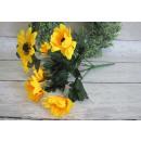 Großhandel Pflanzen & Töpfe: Blumen Strauß Sonnenblumen 7 29 cm