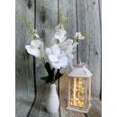 Orchidea szilikon virág természetes fehér 20 k