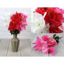 nagyker Művirágok: Mesterséges csokor 6 virágból, csillogással, 40-es